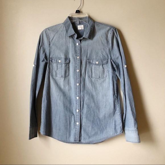 7bf52d8d5 J. Crew Tops | J Crew Classic Chambray Shirt In Perfect Fit | Poshmark